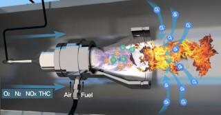 매연저감장치 내에 설치된 플라스마 연소기. 매연(미세먼지)을 전부 연소시킬 수 있는 온도까지 높이는 역할을 한다. - 한국기계연구원 제공